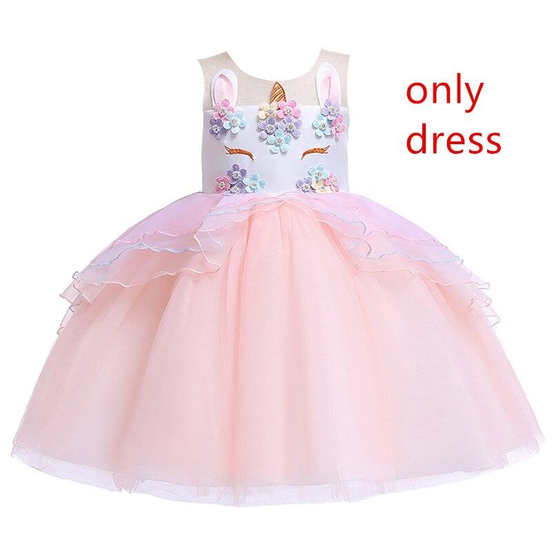 Unicornio fantaisie fille princesse robes filles Cosplay habiller Costume enfants petite licorne fête Tutu robe enfants fleur vêtements