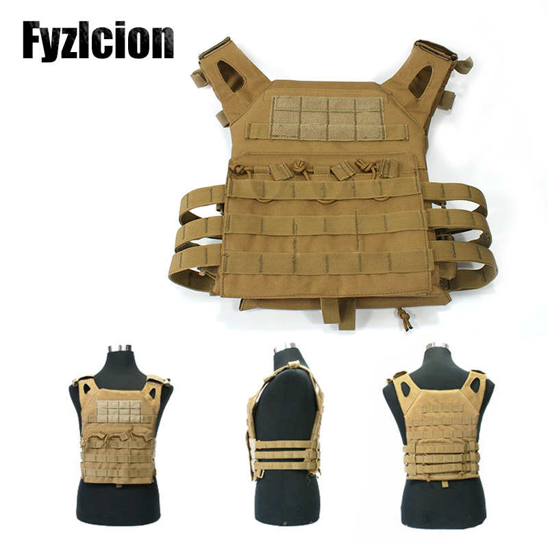 Fyzlcion Tactical Military JPC Vest Hunting Swat Airsoft Molle Combat Assault Plate Carrier Waistcoat Men Army Clothes