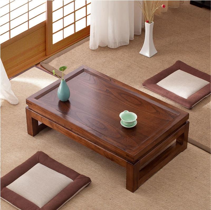 €271.24 5% de réduction|Tatami japonais plancher Tables basses Tables de  thé maison salon meubles bois fenêtre Table intérieure japon bureau ...