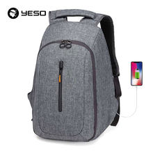 YESO USB Charging Backpack Fit For 15 Inch Laptop Backpack Men Large Capacity Waterproof Anti Theft Backpacks Bags For Teenager(China)