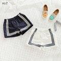 Bebes KIKIKIDS МАКА ДЕТИ флот стиль мальчиков шорты девушки шорты мальчики одежда летние детская одежда roupas infantis menino мальчиков брюки