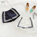 Bebes KIKIKIDS MAKA CRIANÇAS estilo navy meninos calções calções meninas meninos roupa do verão roupa dos miúdos roupas infantis menino meninos calças