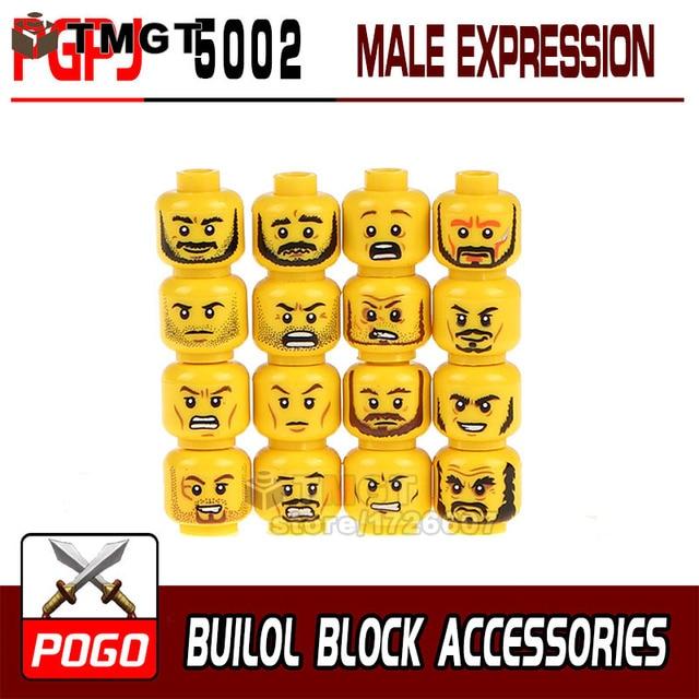 tmgt 16pcs set pgpj5002 pgpj5003 building blocks face emoji