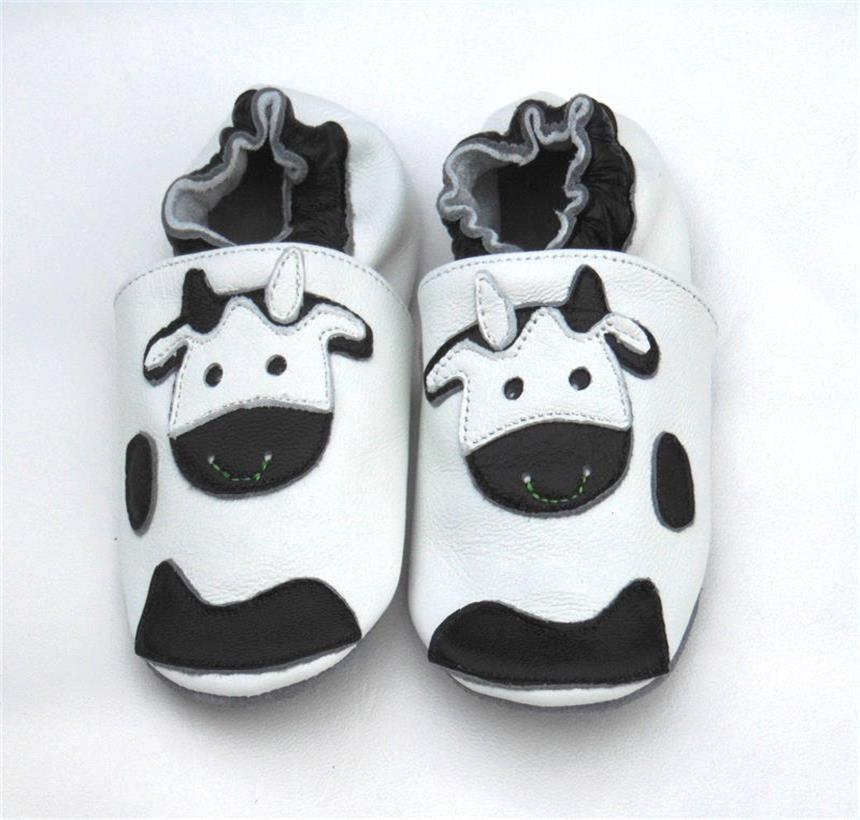 Гарантированная детская обувь из натуральной кожи на мягкой подошве; 1013; обувь для маленьких девочек; обувь для новорожденных; кожаная обувь для младенцев - Цвет: cow