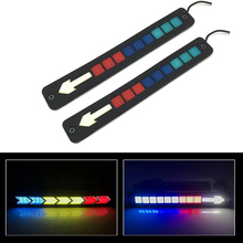 2x Waterproof Car Silicone Flexible COB LED DRL Strips Automobile Daytime Running Light Medium Lights Guide