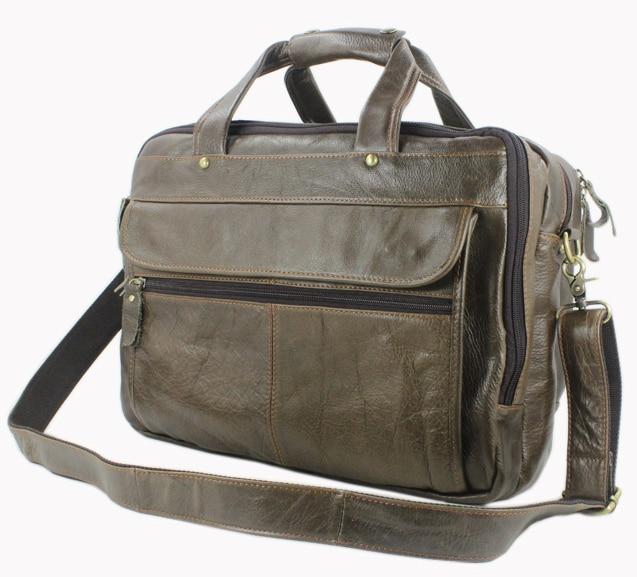9637b07e55 Vintage leather briefcase men genuine leather laptop briefcase tote  business bag shoulder bag men messenger bag