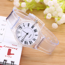 High Quality Crystal Watch Cartoon Novelty Transparent Silicone Strap Classic Electronic for Student Women Wrist