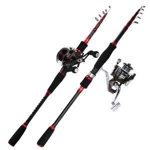 Image 1 - spinning casting lure rod telescopic fishing rod 1.8m 2.7m boat rock pole for bass catfish carp sream rod