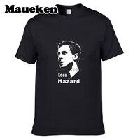 Mannen België Eden Hazard #10 Fun t-shirt chelsea mannen t-shirt Gitaar Icoon Patriots Tees 100% Katoen W0517006