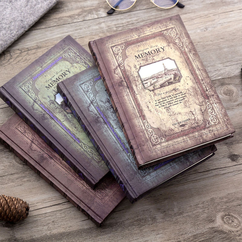 1pcs A5 Creative Retro Classic Memory Notebook 146 Sheets Fashion Office School Daily Memo Practical Diary Notepad