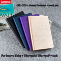 Para lenovo estojo de couro pu protetora para lenovo tab3 7 tb3-730m tb3-730f escudo protetor/pele 7 ''tablet pc dormência tb3-730x