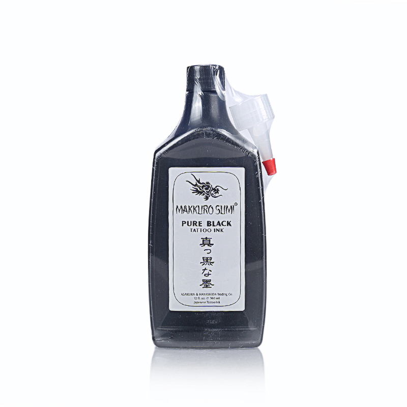 1 bottle Super Black MAKKRUO SUMI Tattoo Outlining Ink For Body Art Painting Cosmetic Pigment Makeup 12OZ 360ml professional 1 bottle tattoo ink for lining and shading newest tribal liner shader pigment black newest 249ml drop shipping