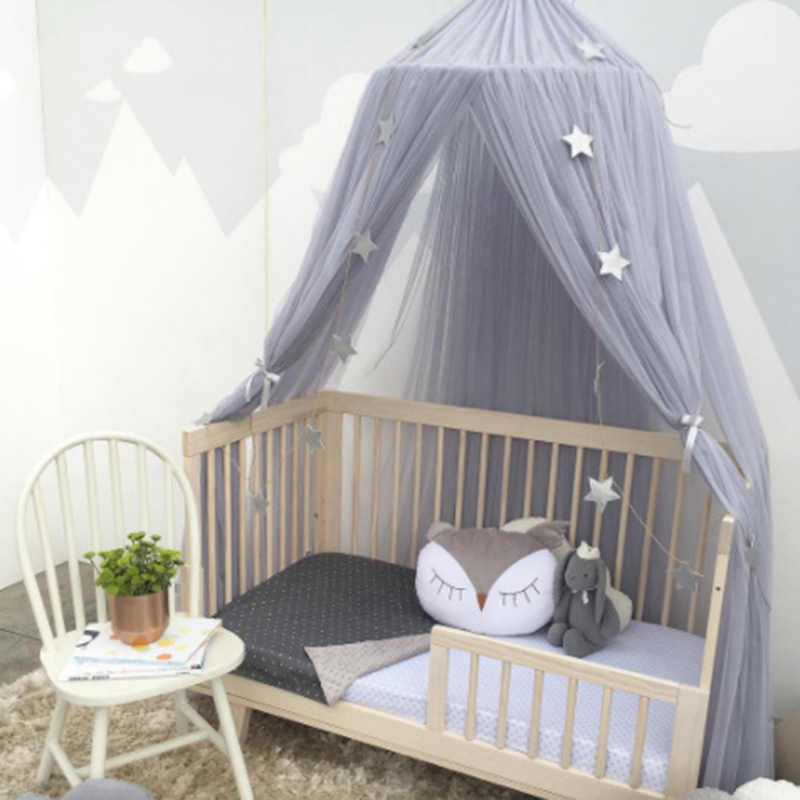 Baby Baldachin Zelt Moskito Net Bett Vorhang Baby Krippe Netting Bett Hing Dome Mädchen Prinzessin Kinder Spielen Zelt Kinder Zimmer dekoration