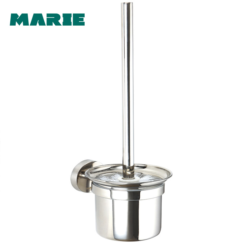 Free shipping New modern bathroom accessories wall mounted stainless steel toilet brush holder
