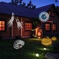 Halloween Luzes de natal Projetor Lâmpada 12 Lente Substituível 12 Lâmpada Colorida Decoração Do Casamento Da Lâmpada Plug-In Luzes De Fadas 9 AM