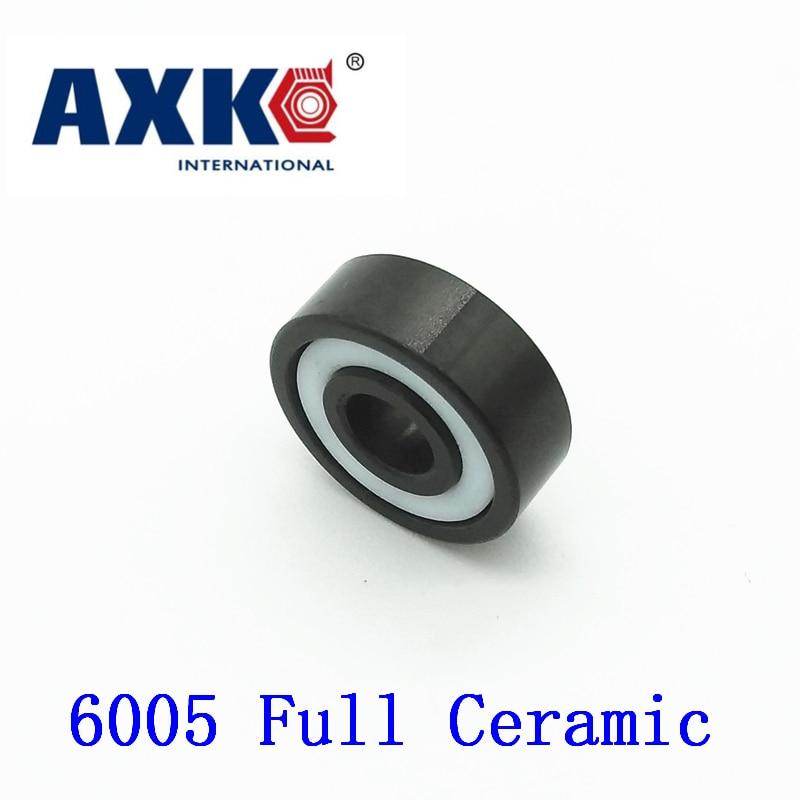 Axk 6005 roulement en céramique complet (1 Pc) 25*47*12 Mm Si3n4 matériel 6005ce tous les roulements à billes en céramique de nitrure de silicium