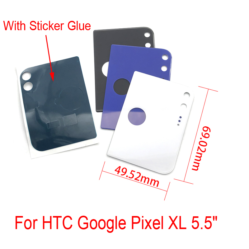 Back Glass Camera Lens For Htc Google Pixel 5.0 Brilliant 20 Pcs/lot Xl 5.5 Back Glass Cover Rear Battery Door Mobile Phone Case Non-Ironing