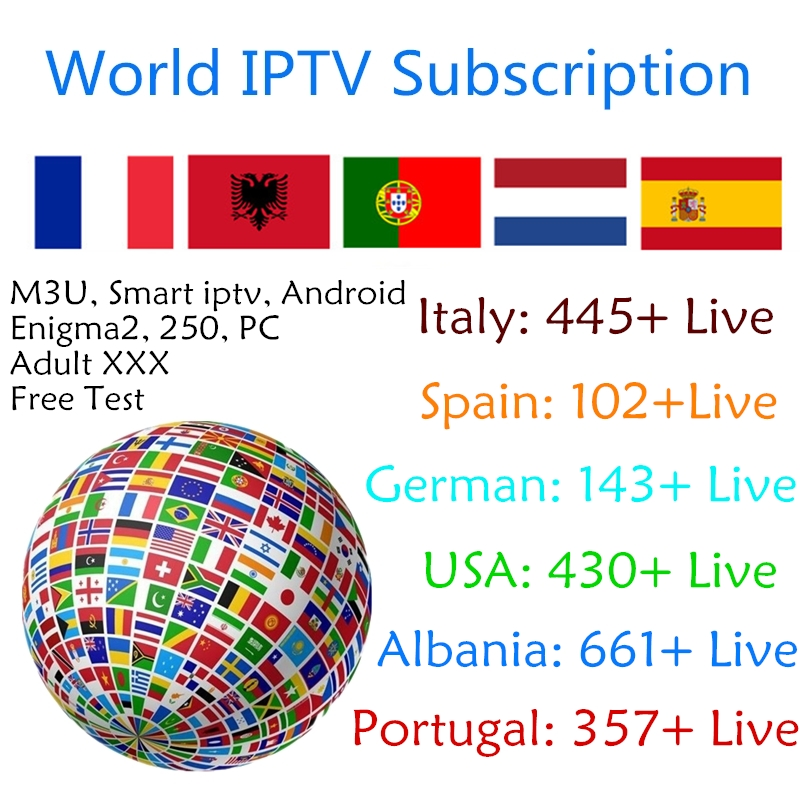 World IPTV Nederlands Italy German Spain USA PT Live M 3U Subscription m3u8 IPTV for Android TV Box Enigma2 Smart tv PC X96 mini-in Set-top Boxes from Consumer Electronics