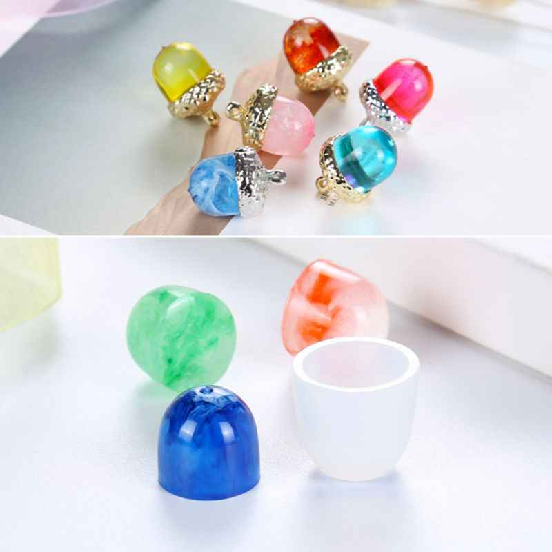 3D Solid Handmade Gifts Fondant DIY Silicone Mold Pendant Cap Holder Epoxy Resin Jewelry Making Tools Necklace Molds