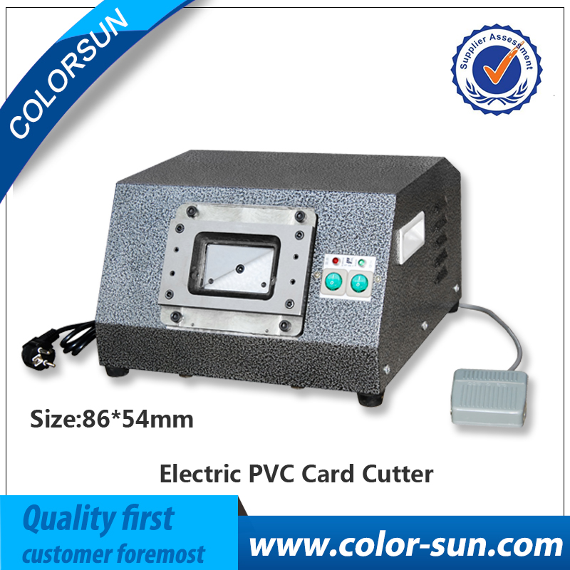 For Automatic electronic driven Cut-card cutter  to cut PVC ID business loyalty card with high speed driven to distraction
