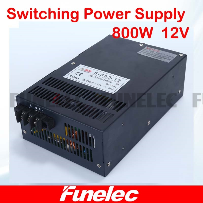 switching power supply 12v 800w ac dc converter 66.7A indoor led driver 110V 220V For led strip display cctv and 3d  printer power supply 24v 800w dc power adapter ac110 220v non waterproof led driver 33a ups for strip lamps wholesale 1pcs