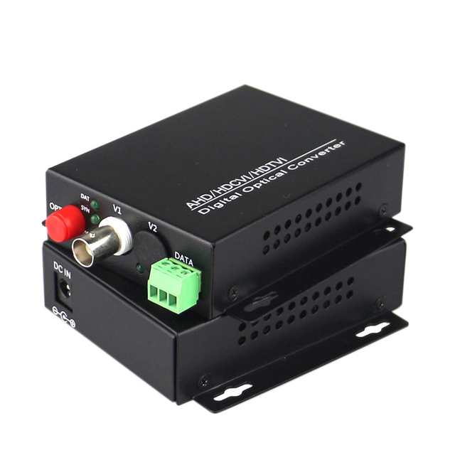 High Quality HD CVI 1 Channel Video Fiber Optical Converters +RS485 Transmitter Receiver -For 720P 960P AHD CVI HD Cameras CCTV
