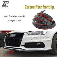 ZD Car Carbon Fiber Bumper Front Lip Tail Protection Spoilers For Audi A4 B7 B5 A6 C6 Q5 Honda Civic 2006 2011 Fit Accord CRV