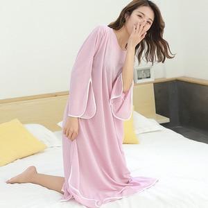 Image 5 - 2019 여름 뉴 플러스 사이즈 캐주얼 드레스 여성 sleepdress 여성 무게 100kg nightdress 느슨한 홈 의류 sleepshirts