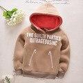 2016 FRETE GRÁTIS para crianças roupas de inverno do bebê da criança além de veludo espessamento berber velo Camisola camisa básica