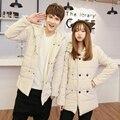 T aliexpress china barato venta al por mayor 2016 otoño invierno nueva hombres mujeres moda casual de algodón acolchado para hombre delgado