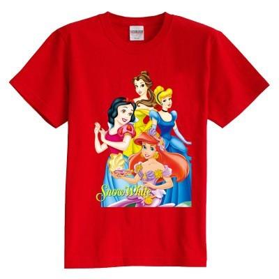 Niños camiseta del verano de manga corta 100% algodón de la muchacha de La Nieve Blanca de algodón camisetas de los niños 8 colores
