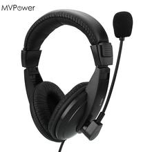 MVpower 1.6m Wired 3.5mm Headset Headphones Bass Stereo with Microphone Mic Game Computer PC Laptop Promotion Earphone