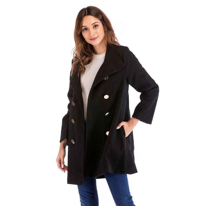 סתיו חורף יולדות מעיל גדול גודל בגדי הריון מעיל יולדות תעלת הלבשה עליונה ליולדות להלביש בהריון מעיל