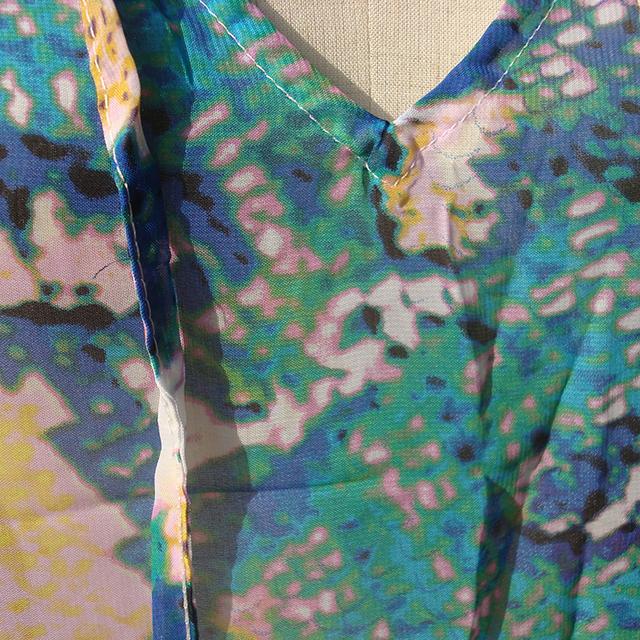 Serpentine Kaftan Beach Dress