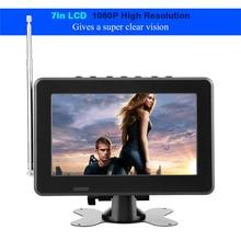 LEADSTAR televisor LCD Digital ATSC para coche, 7 pulgadas, Radio FM, 1080P, estéreo, alta sensibilidad, para enchufe de EE. UU.