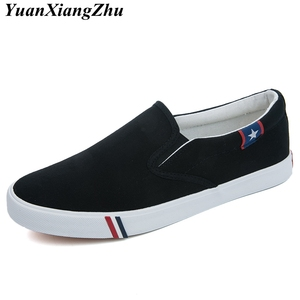 Image 2 - Autumn Slip On Women Canvas Shoes Woman Loafers 2019 New High Quality Classic Casual Flats Female Vulcanized Shoes Size 35 44