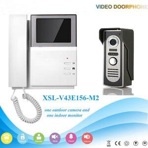 """Image 2 - YobangSecurity אבטחת בית וידאו אינטרקום 4.3 """"אינץ צג וידאו פעמון דלת טלפון אינטרקום מצלמה צג מערכת דירה"""