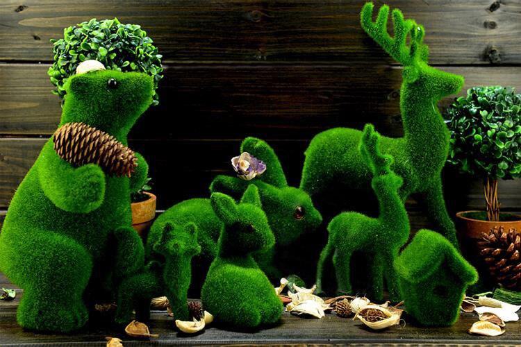 Artificielle créative herbe animaux pour maison et décor jardin cadeau fait  à la main cour décoration kid jouets artisanat artisanat livraison gratuite  dans ... 33b780875c62