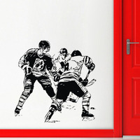 A Group Ice Hockey Player In The Game Wall Stickers Home Decor Living Room Wall Decals Art Vinyl Stickers Wall Mural