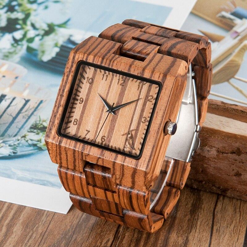 Image 3 - BOBO BIRD New Arrival Men Watch L24 Zebra Wooden Watch Mens Luxury Brand Design All Wood Quartz Wristwatch in Gift Boxwristwatch brandwristwatch menswristwatch wood -