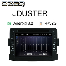 OZGQ Car Multimedia player Android 8.1 8.0 Automotivo 2 Din For Dacia/Sandero/Duster/Renault/Captur/Lada/Xray 2/Logan 2 RAM 4G адаптер рулевого управления re la r renault logan duster sandero kaptur lada vesta xray nissan terrano обучаемый