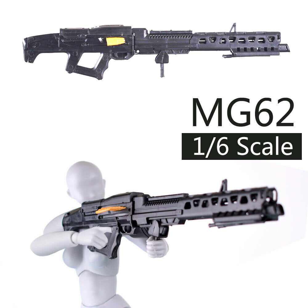 1/6 Scale Avatar MG62 Assembly Gun Model Puzzles Building Brick Gun Weapon Action Figure