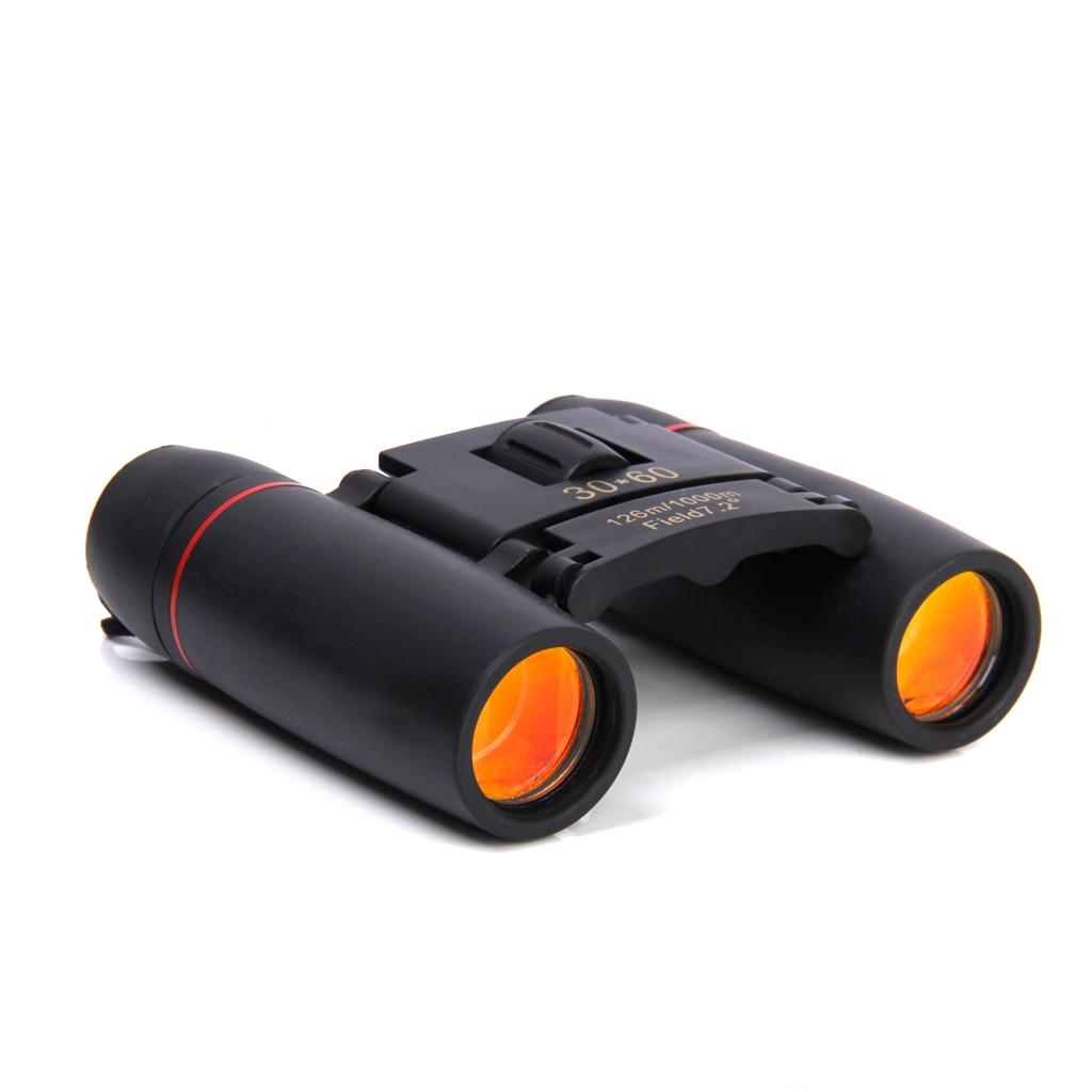 Professional Mini Folding 30x60 Day Night Vision Zoom Binoculars Telescope 126m-1000m Camping Hiking Hunting Travelling Equip