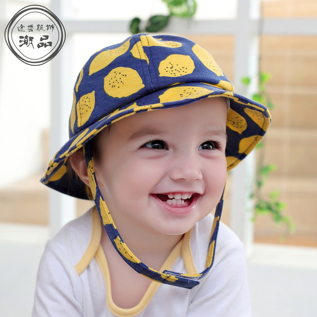 c99207b83 Children Boys Grils Sun Hats Spring Summer Caps Cotton Bucket Hat ...