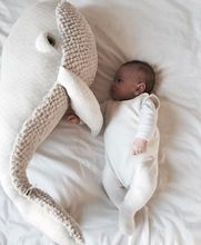 цена на Big Cute Animals Dolphin Octopus Cushion Pillow Stuffed Plush Dolls Calm Sleep Toys Nordic Style Kids Photo Props Bed Room Decor