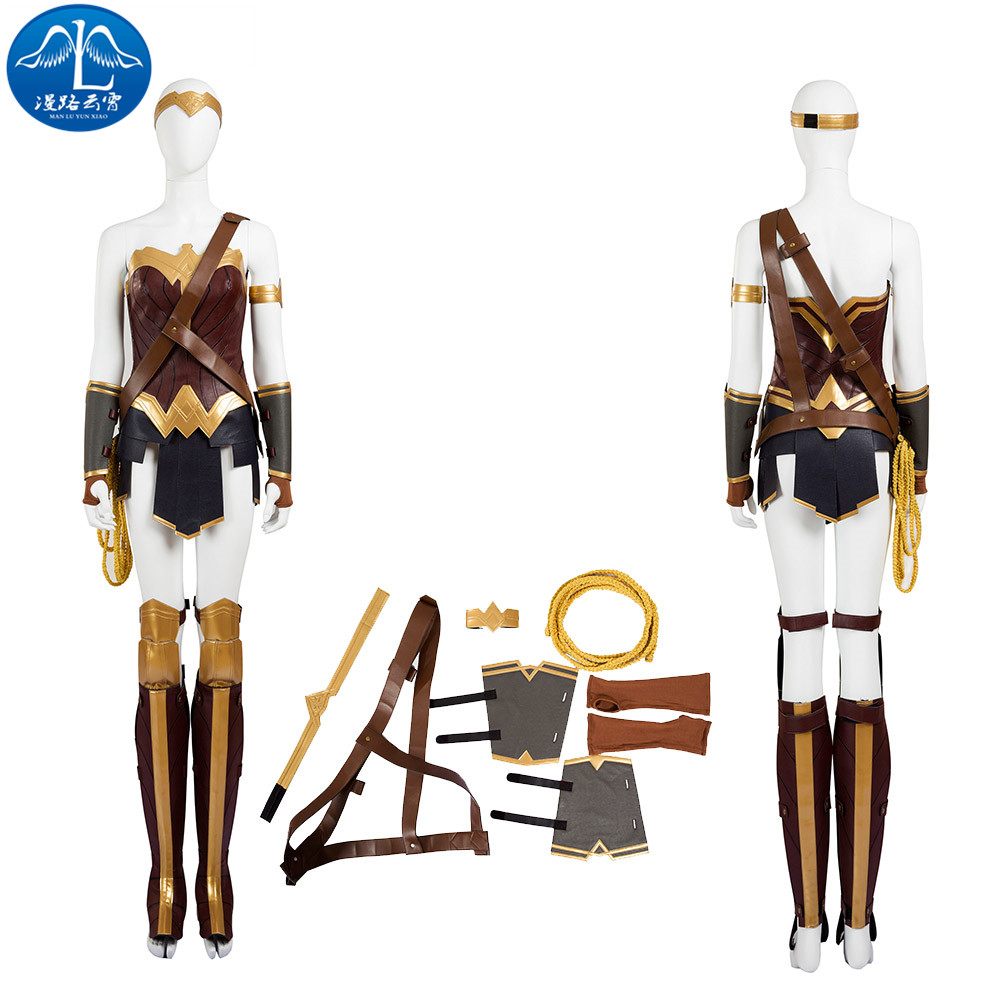 ManLuYunXiao Wonder Woman Cosplay Costume Batman v Superman: Dawn of Justice Cosplay Costume Superhero Free Shipping Women Basic