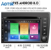 Android 7.1 8.0 Car DVD CD Player GPS navigation for VOLVO S60 V70 XC70 2000 2004 auto radio tape recorder multimedia player IPS