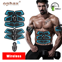 OPHAX Wireless EMS Trainer Electric Abdominal Muscle ABS Stimulator Body Shaping Massage Weight Loss Machine Sports Tool