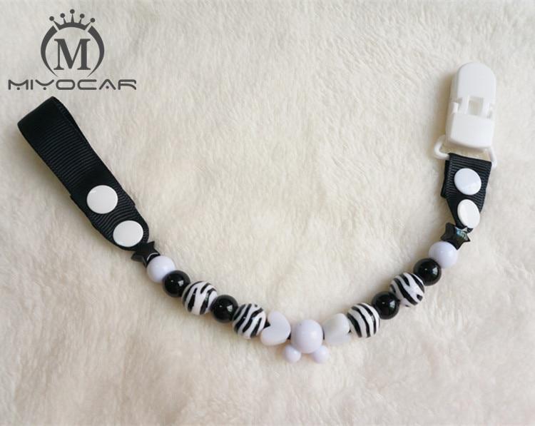 MIYOCAR omamljanje Stripe pisane smešne kroglice ročno narejene verižice za pancere / sponke za dude / posnetek za posteljico / posnetek za zobe / držalo za srčke