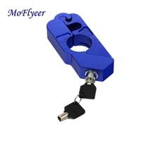 MoFlyeer CNC Motorbike Lock Scooter ATV Pit Dirt Bike Handlebar Security Safety Lock Brake Throttle Grip Protection Adapters